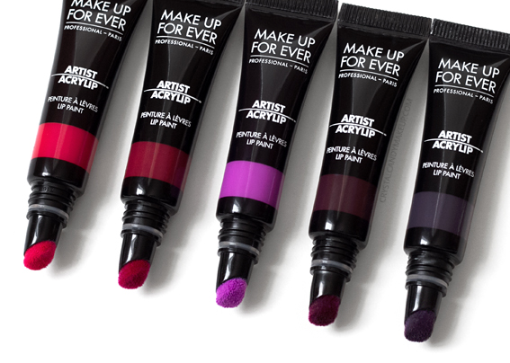 Make Up For Ever MUFE Artist Acrylip Lip Paints Lipstick Review 400 401 500 501 600