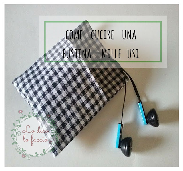 tutorial come cucire bustina