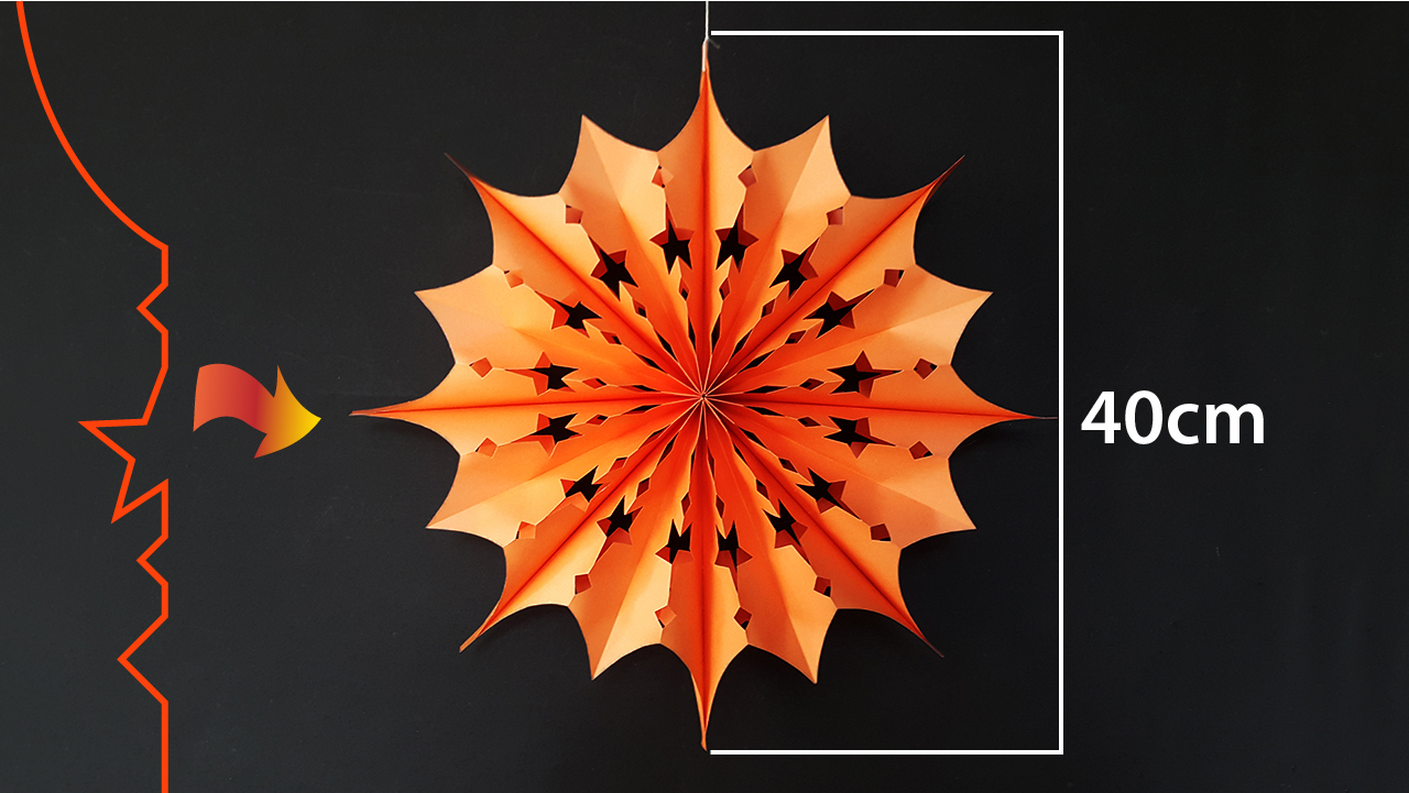 Colors Paper: Paper Stars for Christmas Decoration   Easy Paper