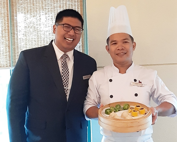 Rene Gargallo, Marco Polo Davao Restaurant, Bar & Events (RBE) Manager   and Chef Ranillo Indonilla