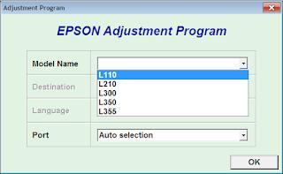 Reset Epson L110 – L210 – L300 – L350 – L355