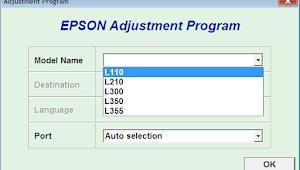Resetter Epson L110 L210 L300 L350 L355 Mudah
