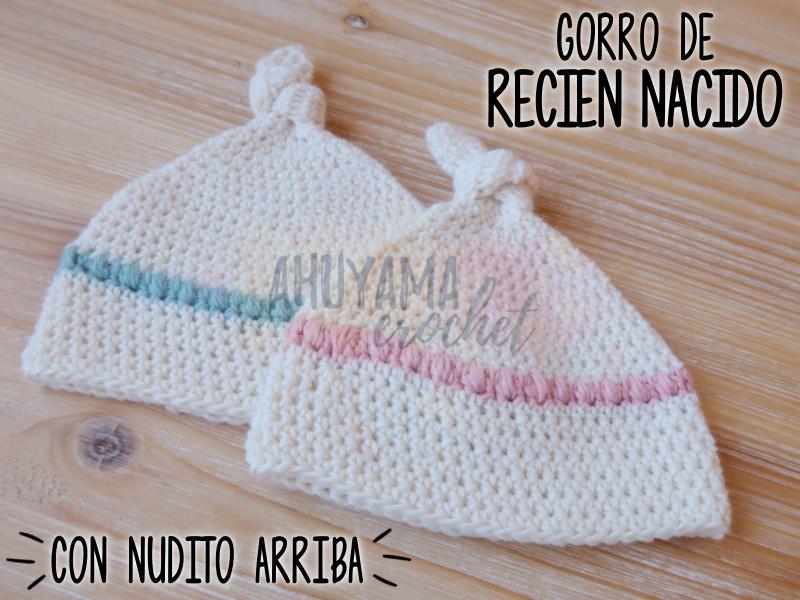 GORRO DE RECIÉN NACIDO A CROCHET - CON PATRON GRATIS - - Ahuyama Crochet