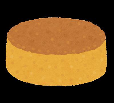 ケーキのスポンジのイラスト