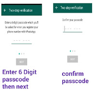 Two steps verification WhatsApp enable