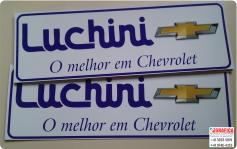 placa protetor de carro