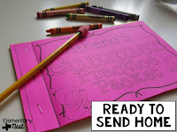 three ways to prevent the summer slide- summer practice packets that teachers can send home to parents and students over the summer to keep their past year's knowledge fresh in their minds- plus a freebie suggestion page to send home to parents