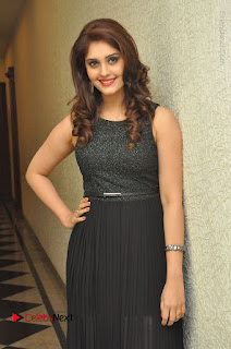 Actress Surabhi Stills in Black Long Dress at turodu Audio Launch  0014.JPG