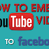 Embed Youtube Video On Facebook