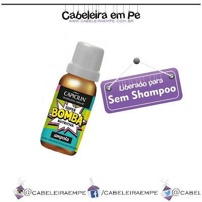 Ampola Super Bomba Nutritiva - Capicilin liberada para No Poo, Sem Shampoo, Low Poo, Shampoo Leve