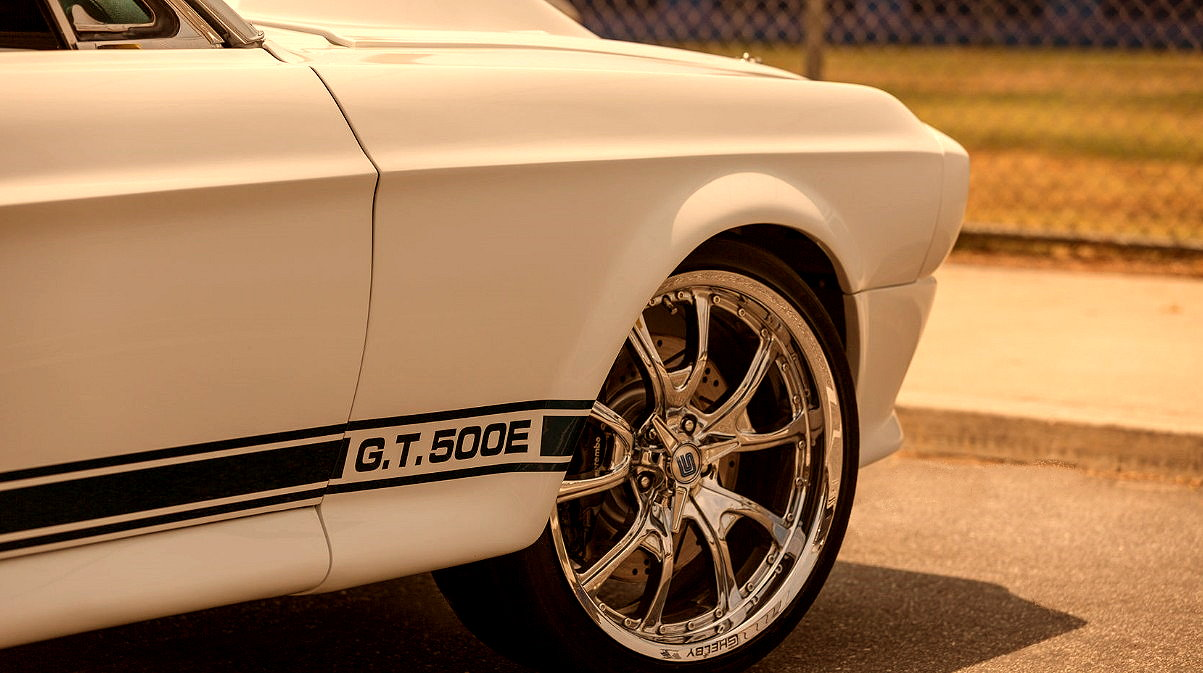 1968 Ford Mustang Convertible Modified GT 500E 624 HP Coyote Aluminator  Whipple Supercharger Chrome Rims