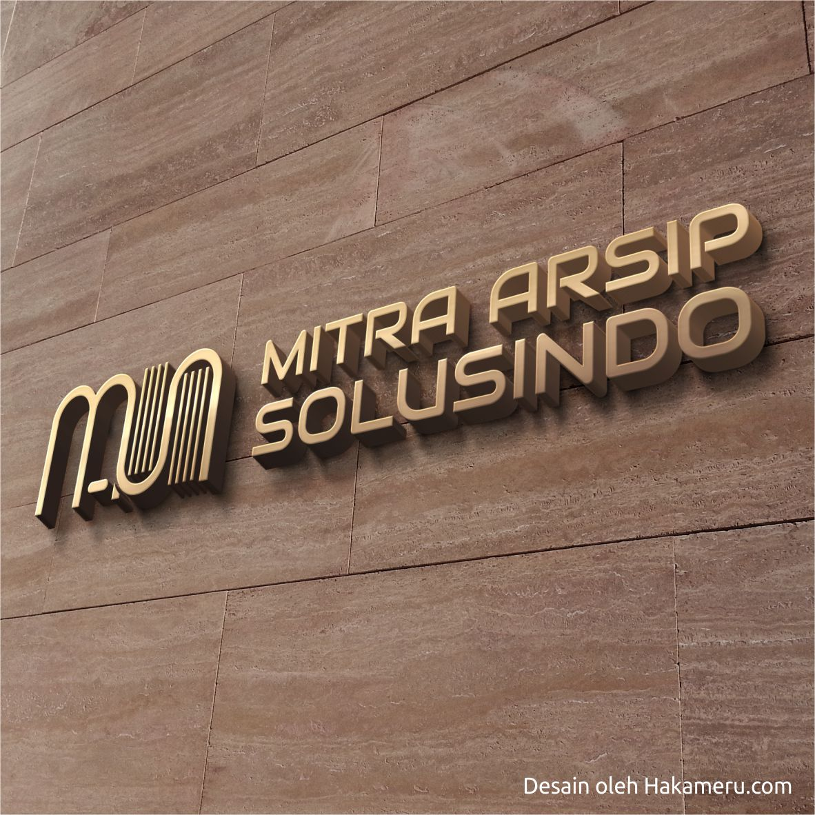 Desain logo untuk perusahaan penyedia jasa arsip PT Mitra Arsip Solusindo - Jasa Desain Grafis Online HAKAMERU