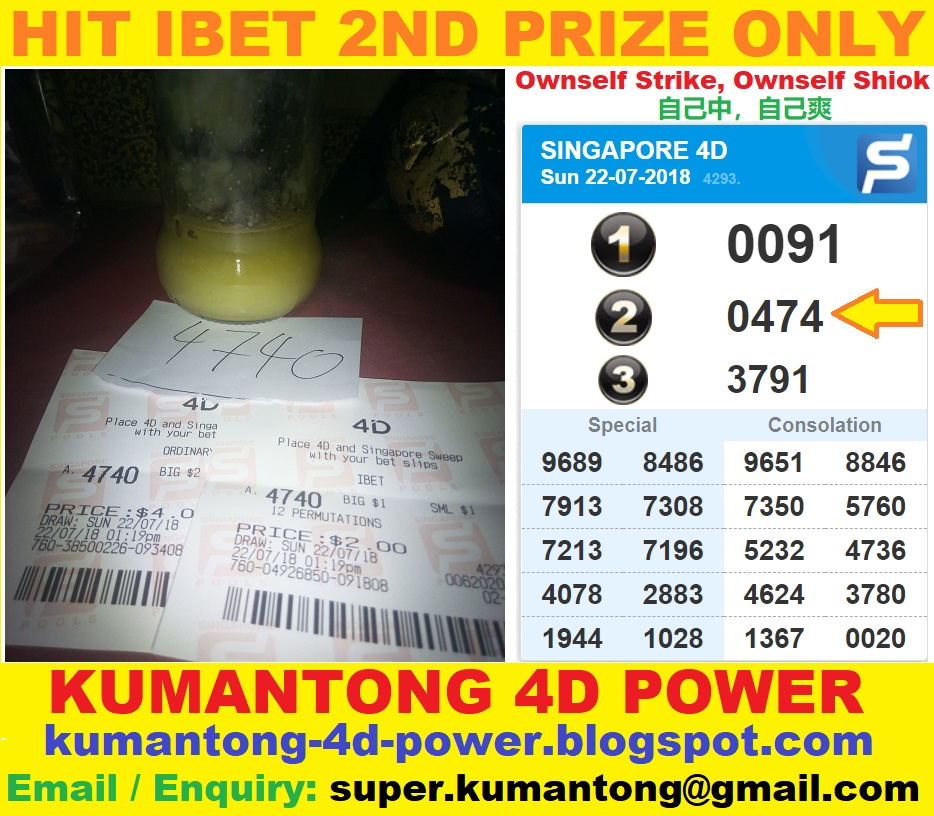 KUMANTONG 4D POWER: Hit Ibet 2nd Prize with Oil Bottle Kumantong's