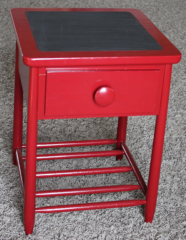 Sure Y Not The Red Night Table Night Stand