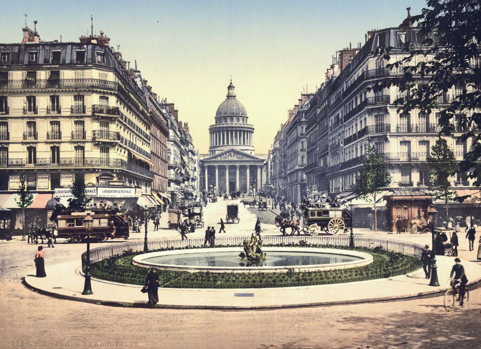 The Pantheon and the Rue Soufflot, Paris.