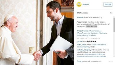 Papa Francisco terá conta no Instagram