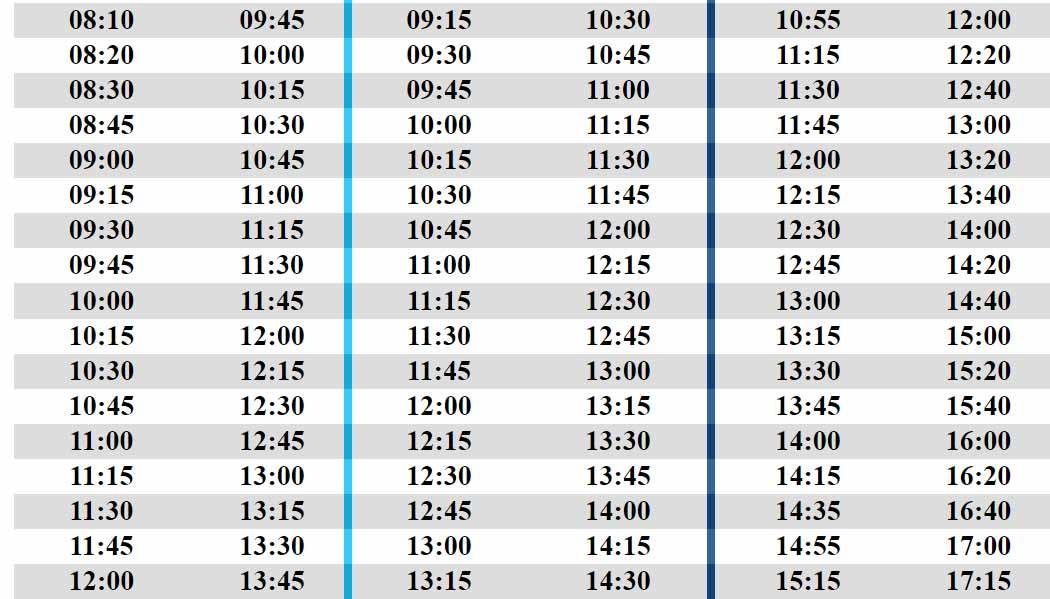 Korucuk Özel Halk Otobüsleri Sefer Saatleri