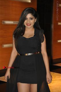 Telugu Actress Model Madhulagna Das Latest Spicy Stills in Black Short Dress  0014.JPG