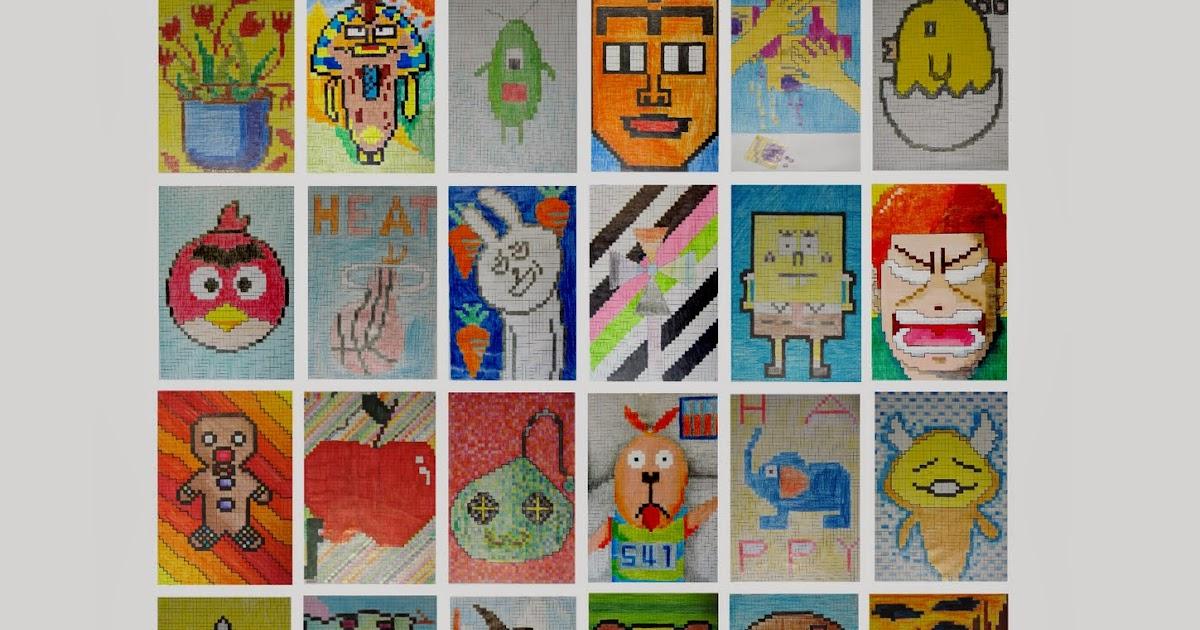 虛線的教學: 美術課2-pixel art