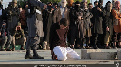 Public execution by IS militants.