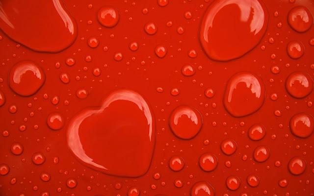 Waterdrup in de vorm van hartje