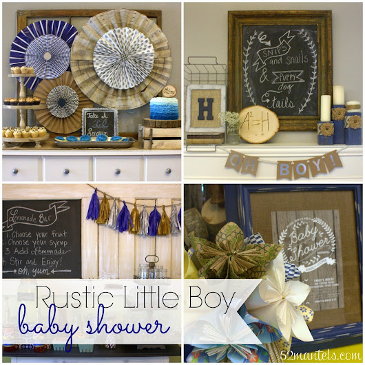 52 Mantels: Rustic Shower for a Baby Boy!