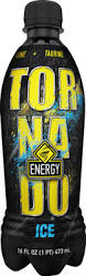 A stock image of Tornado Ice Energy Drink, from Big Lots