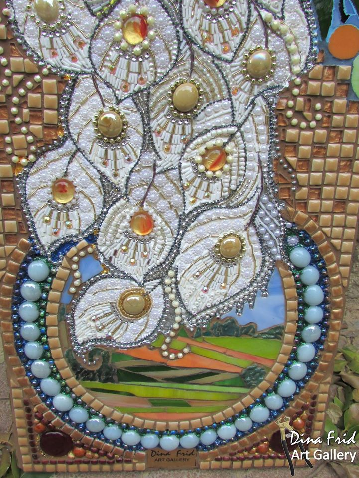 how to make mosaic peacock wall art crazzy craft. Black Bedroom Furniture Sets. Home Design Ideas