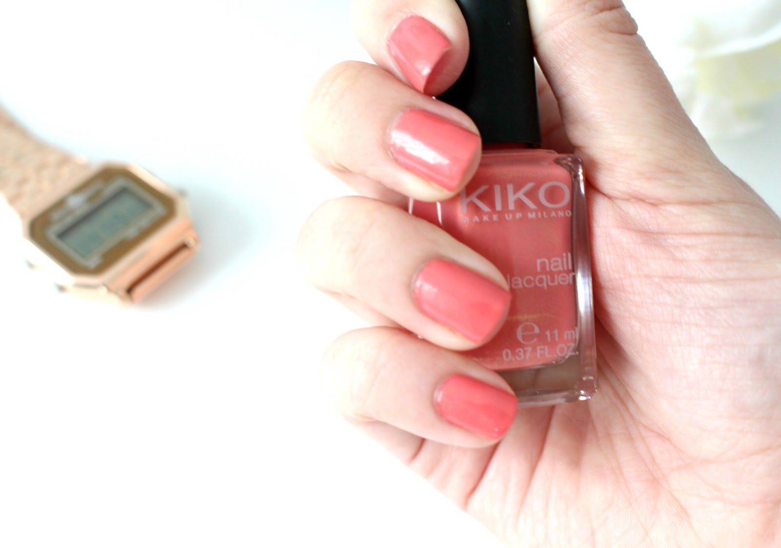 Red Sun Blue Sky: [Review] Kiko - Pearly Coral Rose