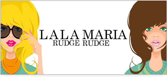 Lala e Maria Rudge layout do blog