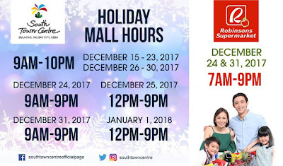 Mall Hours South Town Centre Christmas 2017