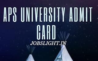APS University Admit Card