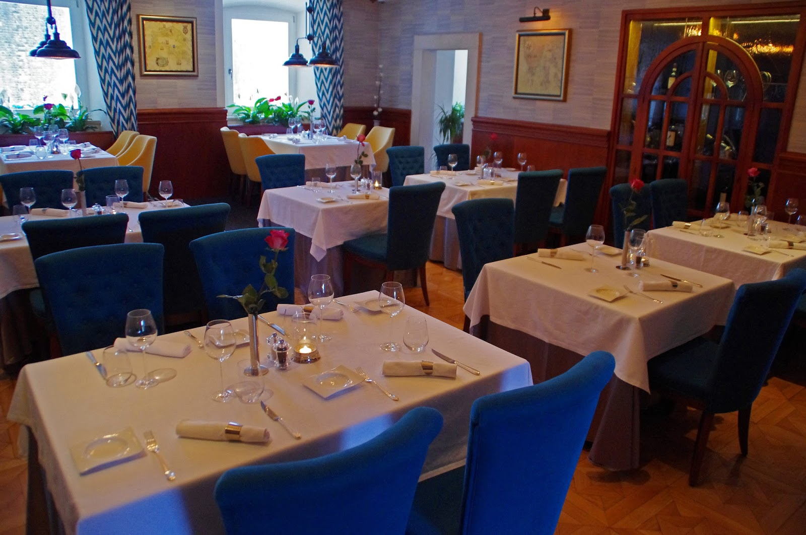 Interior restaurant at Nautika Restaurant Dubrovnik