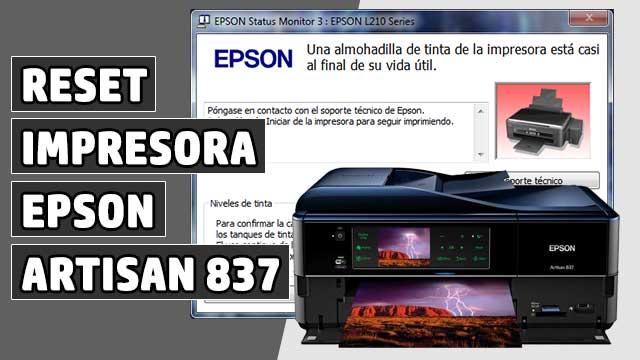 resetear Almohadillas impresora EPSON Artisan 837