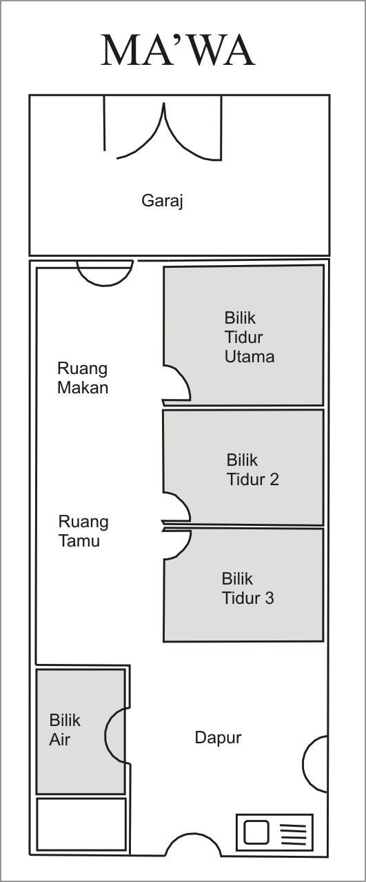 Unit Rumah 2 Bilik