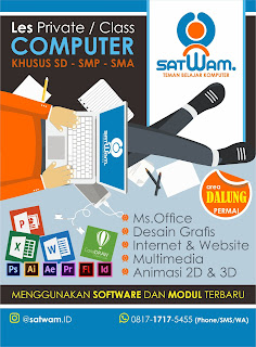 Desain Poster Les Komputer