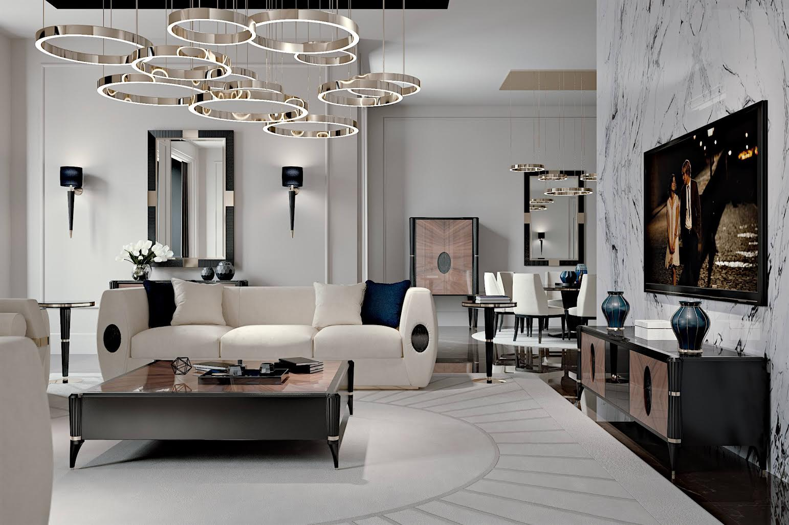 Lo stile luxury classico di francesco pasi in scena al for Salone del mobile 3018