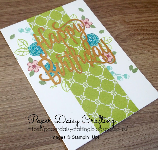 Happy Birthday Thinlits die from Stampin' Up!