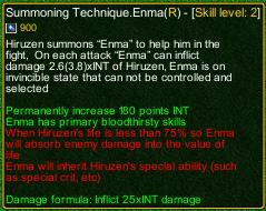 naruto castle defense 6.0 Summoning Technique Enma detail