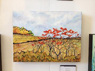 sumac, painting, Ontario, Robin Baratta