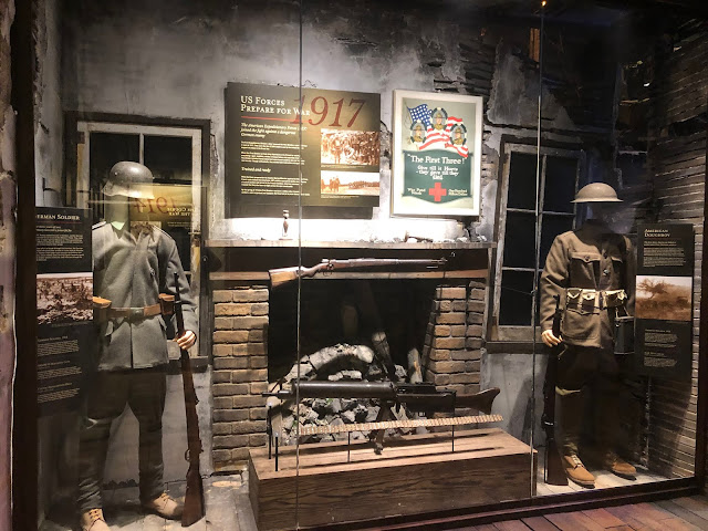 Uniforms and weapons on display at the First Division Museum showed changes throughout the years both for the First Division and enemy combatants