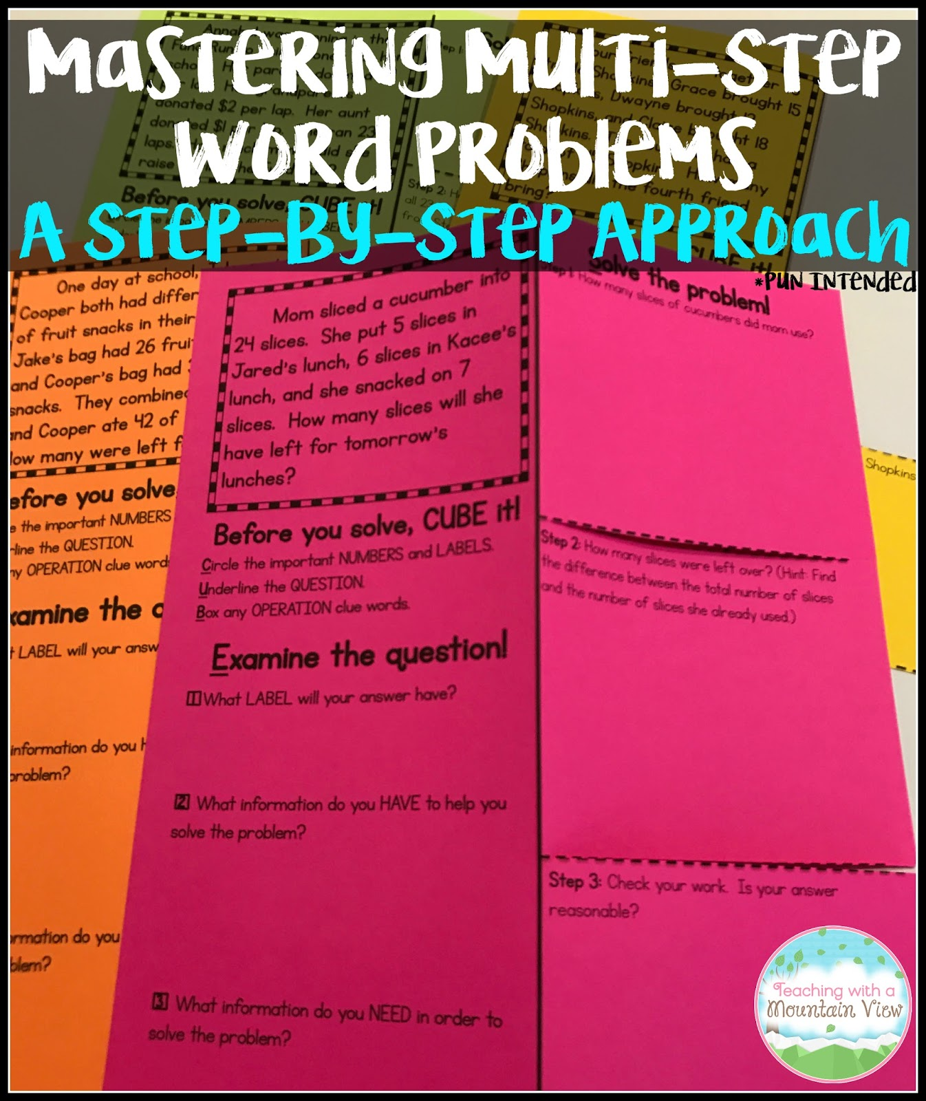 Mastering Multi Step Word Problems Teaching With A