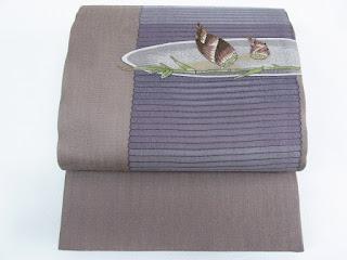すくい織の筍の袋帯