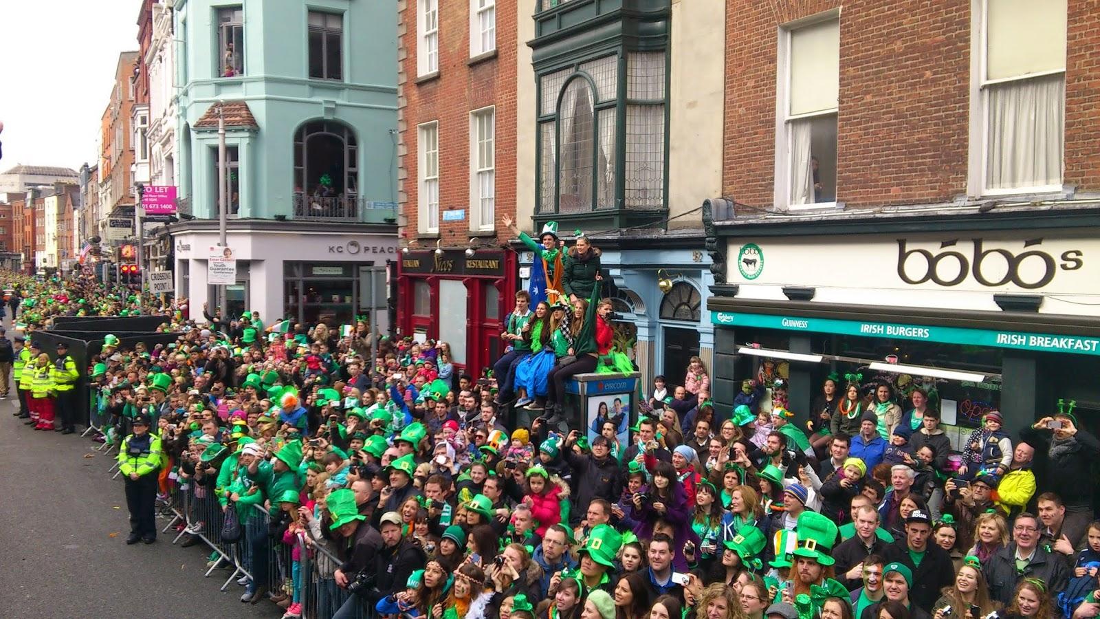Experiencia de vivirlo desde dentro. Desfile de San Patricio en Dublin