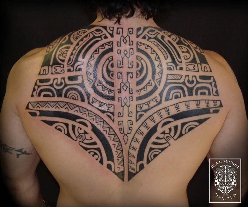 Polynesian Full Back Tattoos: Tatouage Polynesien-polynesian Tattoo: Marquesan Back Piece