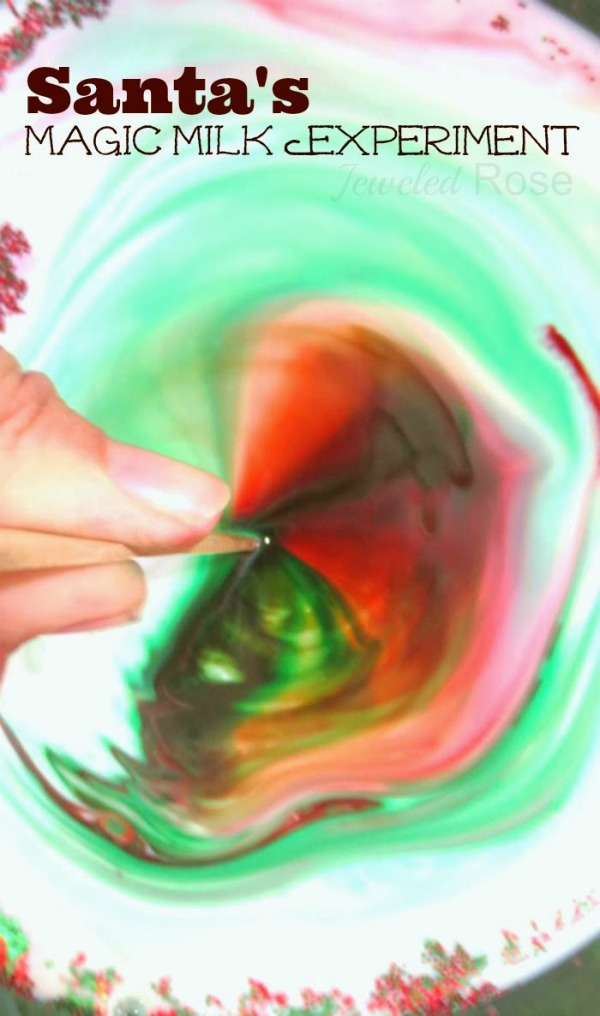 SANTA'S MAGIC MILK- experiment for kids