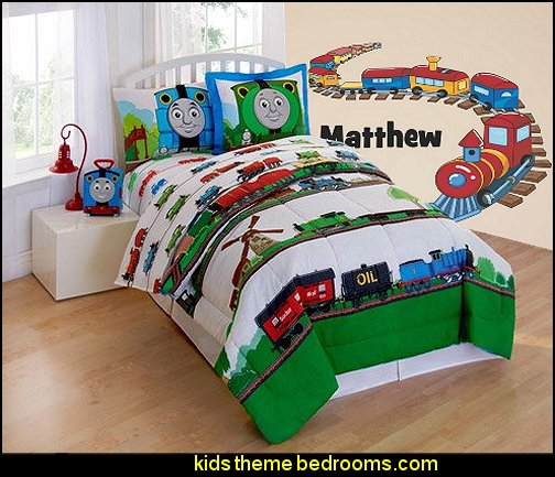 Train Personalized Custom Name  wall Decal  Train themed bedroom decorating ideas - boys bedroom train theme decor  - train themed beds - train themed furniture - train theme bedding - train theme decorations - Thomas the tank bedroom - Thomas the tank theme bed - old world train themed bedroom - vintage style trains wall murals - choo choo trains wall decal stickers - Train Theme furniture