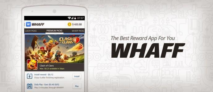 Whaff Rewards Mobile aplikasi
