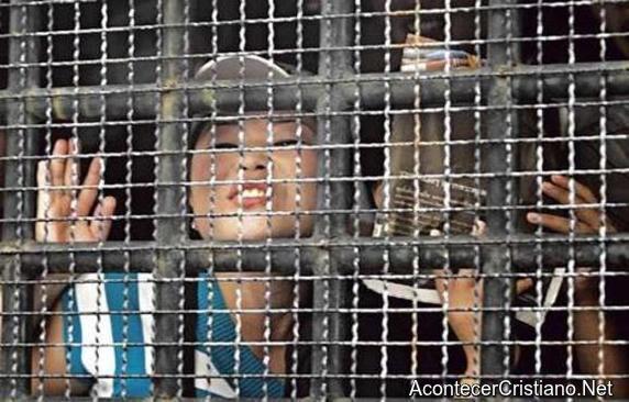 Mujer norcoreana en prisión.