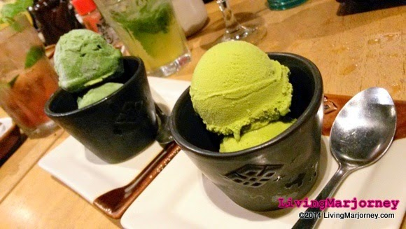 Green Tea and Avocado Ice Creams